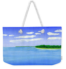 Weekender Tote Bag featuring the painting Sag Harbor, Long Island by Dick Sauer