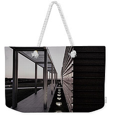Weekender Tote Bag featuring the photograph Sag Harbor Sunset 1 In Black And White by Rob Hans
