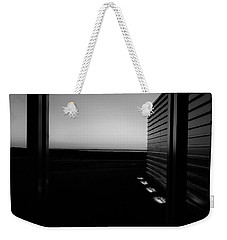 Weekender Tote Bag featuring the photograph Sag Harbor Sunset 2 In Black And White by Rob Hans