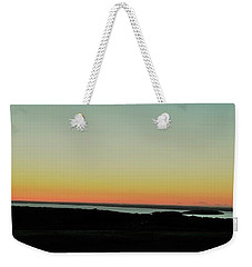 Weekender Tote Bag featuring the photograph Sag Harbor Sunset 3 In Black And White by Rob Hans