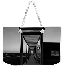 Weekender Tote Bag featuring the photograph Sag Harbor Sunset In Black And White by Rob Hans