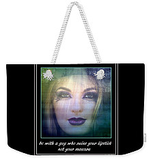 Weekender Tote Bag featuring the photograph Sage Advice by Irma BACKELANT GALLERIES