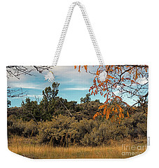 Sagebrush And Lava Weekender Tote Bag by Cindy Murphy - NightVisions