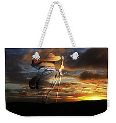 Weekender Tote Bag featuring the digital art Sages Of The Universe by Shadowlea Is