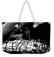 Weekender Tote Bag featuring the photograph Saging Of The Black Bear 1 by Ayasha Loya