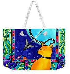 Sagittarius Cat Zodiac Weekender Tote Bag