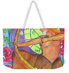 Weekender Tote Bag featuring the painting Sagittarius by Cathie Richardson