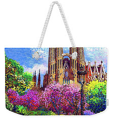 Sagrada Familia And Park,barcelona Weekender Tote Bag by Jane Small