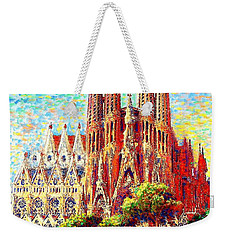 Sagrada Familia Weekender Tote Bag by Jane Small