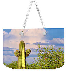 Saguaro And Mesquite In Monsoon Season Weekender Tote Bag