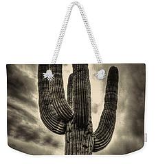 Saguaro And Storm Clouds Weekender Tote Bag