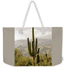 Weekender Tote Bag featuring the photograph Saguaro by Brenda Pressnall