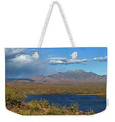 Saguaro Lake Panorama Weekender Tote Bag