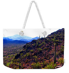 Weekender Tote Bag featuring the photograph Saguaro National Park Winter 2010 by Michelle Dallocchio