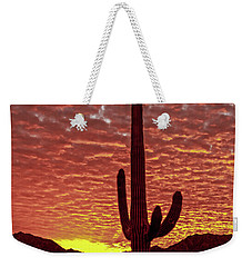Saguaro Sunrise Weekender Tote Bag by Robert Bales