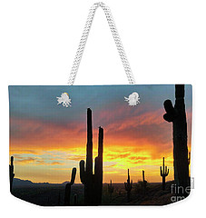 Weekender Tote Bag featuring the photograph Saguaro Sunset by Anthony Citro