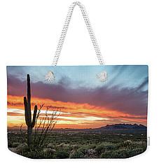 Saguaro Sunset At Lost Dutchman 2 Weekender Tote Bag
