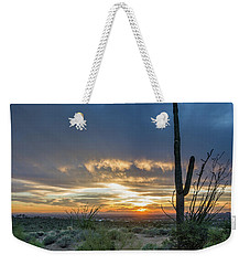 Saguaro Sunset At Lost Dutchman Weekender Tote Bag