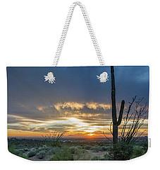 Saguaro Sunset At Lost Dutchman Weekender Tote Bag