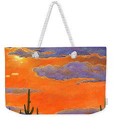 Saguaro Sunset Weekender Tote Bag by Johnathan Harris