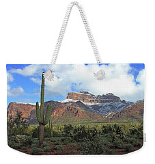 Saguaros Cholla Superstition Mountains Weekender Tote Bag