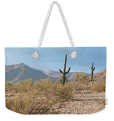 Saguaros On A Hillside Weekender Tote Bag