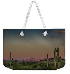 Saguaros Salute Rays Rising Weekender Tote Bag