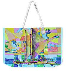 Sail Away Sunset Weekender Tote Bag