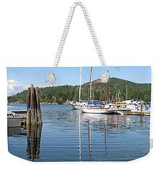 Sail Boats At Pender Horbour Weekender Tote Bag