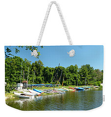 Sail Boats At Rest Weekender Tote Bag by Donald C Morgan