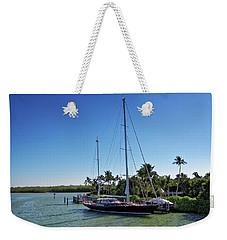 Weekender Tote Bag featuring the photograph Sailboat At Royal Harbor by Lars Lentz