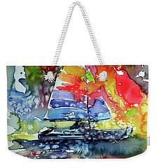 Sailboat At Sunset II Weekender Tote Bag by Kovacs Anna Brigitta