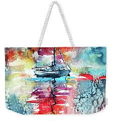 Sailboat At The Sinshine Weekender Tote Bag by Kovacs Anna Brigitta