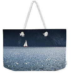 Weekender Tote Bag featuring the photograph Sailboat by Chevy Fleet