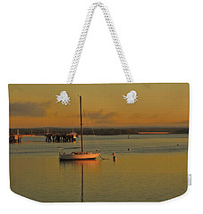 Sailboat Glow Weekender Tote Bag