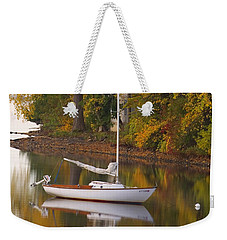 Sailboat In Alburg Vermont  Weekender Tote Bag