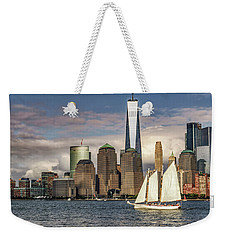 Sailboat On New York Harbor Weekender Tote Bag
