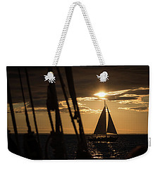 Sailboat On The Horizon Weekender Tote Bag