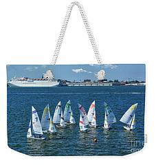 Sailboat Races Weekender Tote Bag