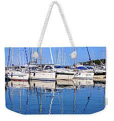 Sailboat Reflections - Rovinj, Croatia  Weekender Tote Bag