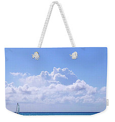 Weekender Tote Bag featuring the photograph Sailboat Sea And Sky M5 by Francesca Mackenney