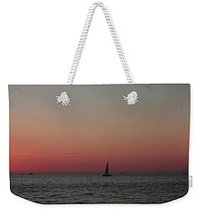 Sailboat Sunset Sky Weekender Tote Bag by Ellen O'Reilly