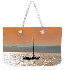 Sailboat With Bike Weekender Tote Bag