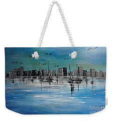 Sailboats And Cityscape Weekender Tote Bag
