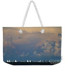 Sailboats And Thunderheads Weekender Tote Bag
