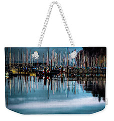 Sailboats At Sunset Weekender Tote Bag by David Patterson