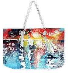 Sailboats At The Sunshine Weekender Tote Bag by Kovacs Anna Brigitta