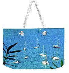 Sailboats In Antigua Harbor Weekender Tote Bag