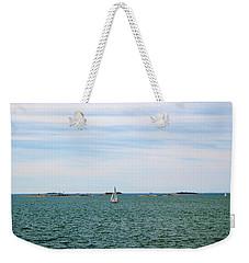 Sailboats In Summer Weekender Tote Bag