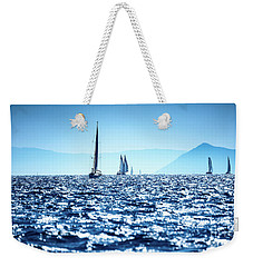 Sailboats In The Sea Weekender Tote Bag